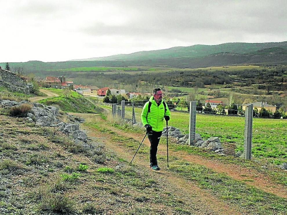 Mariano Navascués es su recorrido hacia el Pico Modorra
