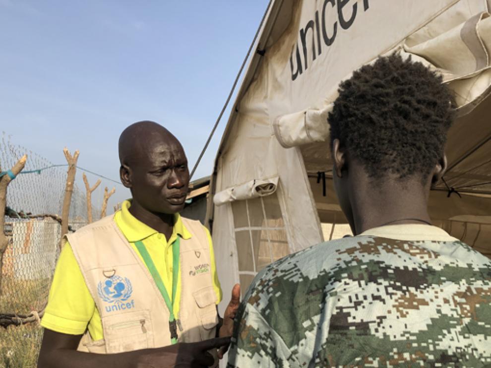 Convenio con UNICEF para desmilitarizar a niños y niñas soldado en Sudán del Sur