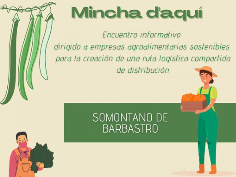 Detalle del cartel del primer encuentro de productores de Barbastro.