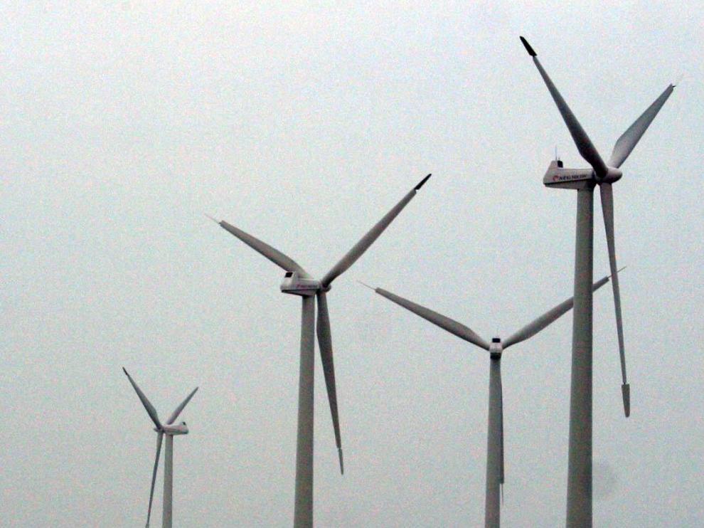 Generadores eólicos en Gurrea de Gállego