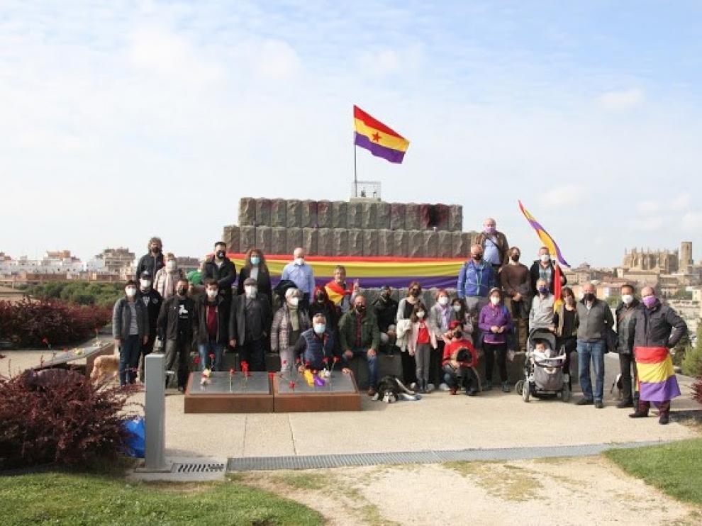Imagen del acto celebrado en Huesca este miércoles.