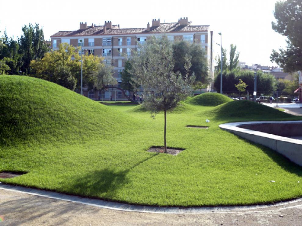 Parque de San Martín de Huesca.