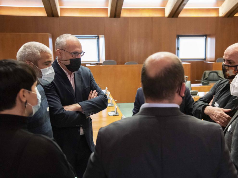 Encuentro del comité de empresa con parlamentarios.