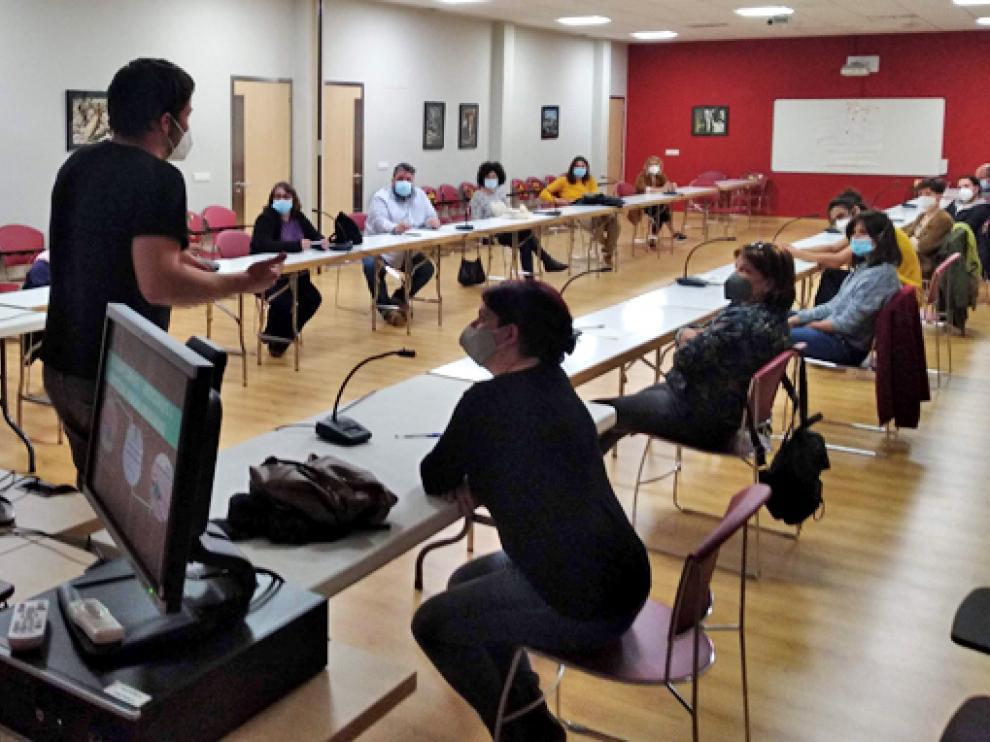 primer encuentro de productores y transformadores del Somontano en el marco del proyecto 'Mincha d´aquí'.