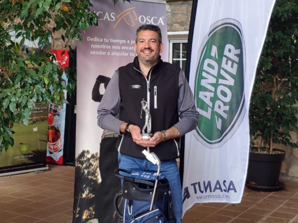 Roberto Ramos, vencedor absoluto de la liga Golf Guara de 2020, que también había ganado el año anterior.