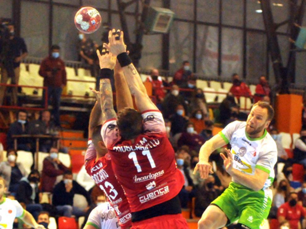 Imagen del último partido de liga disputado entre el Incarlopsa Cuenca y el Bada Huesca.