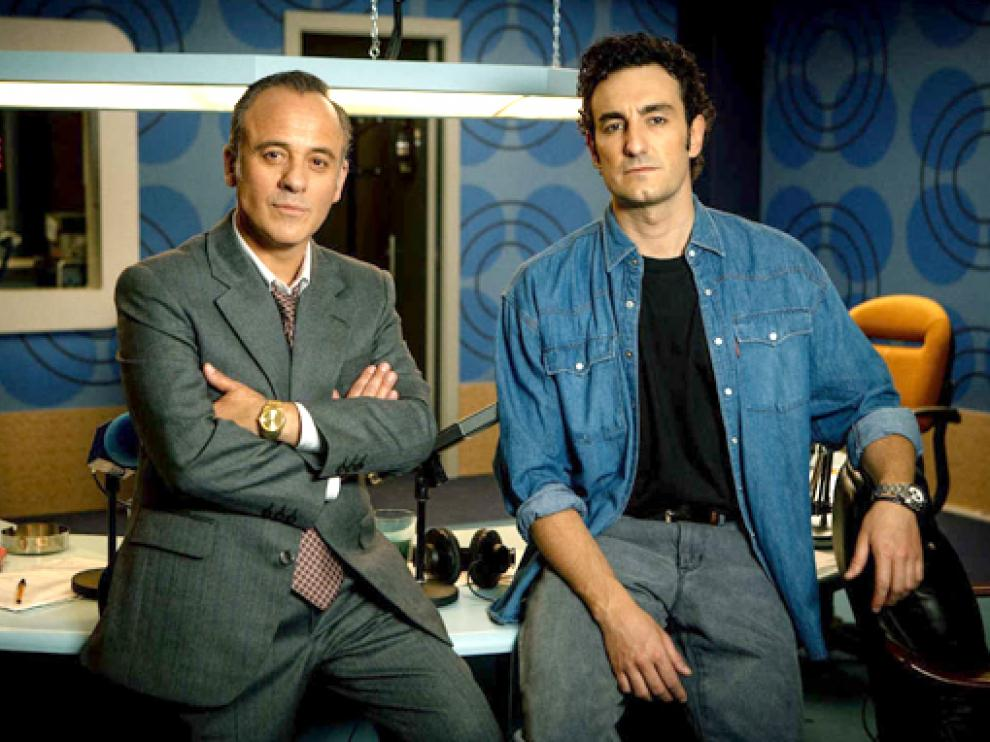 Javier Gutiérrez y Miki Esparbé protagonizan la serie 'Reyes de la noche'.