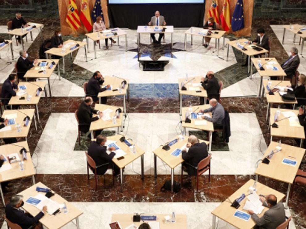 Javier Lambán preside la Mesa de Sanidad de los proyectos que optan a los fondos UE Next Generation