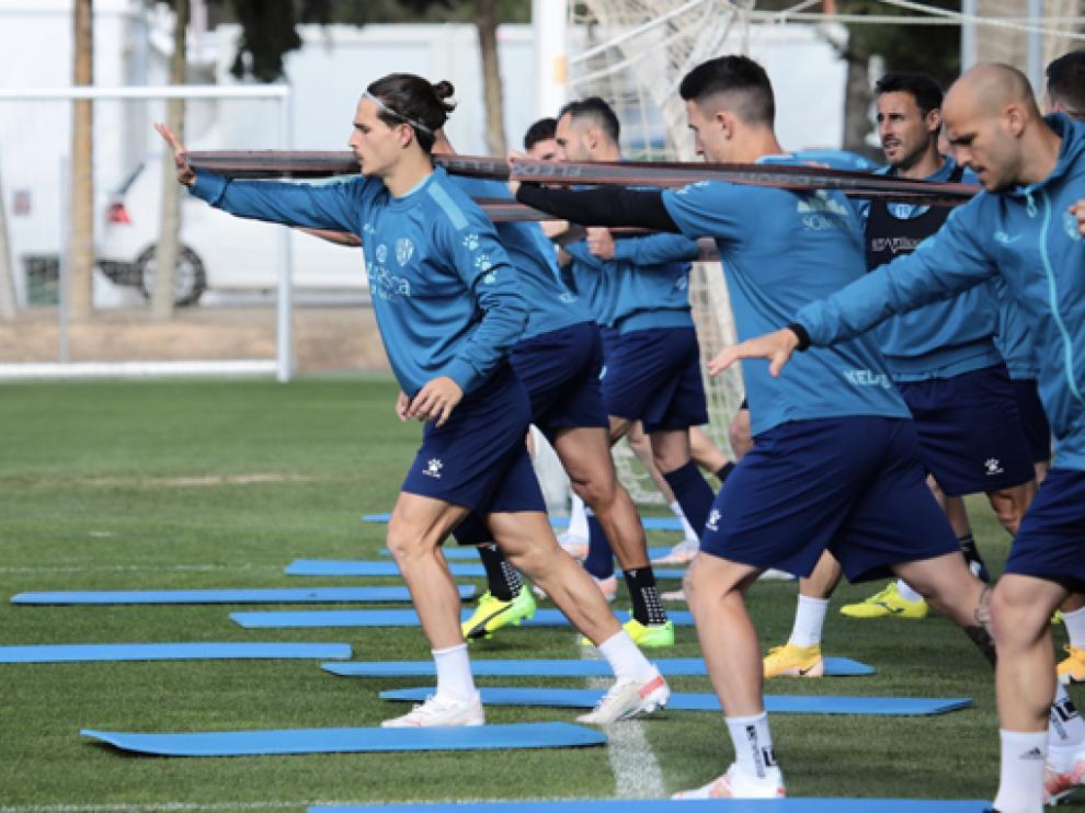 El Huesca tuvo ayer su penúltimo entrenamiento de la semana.