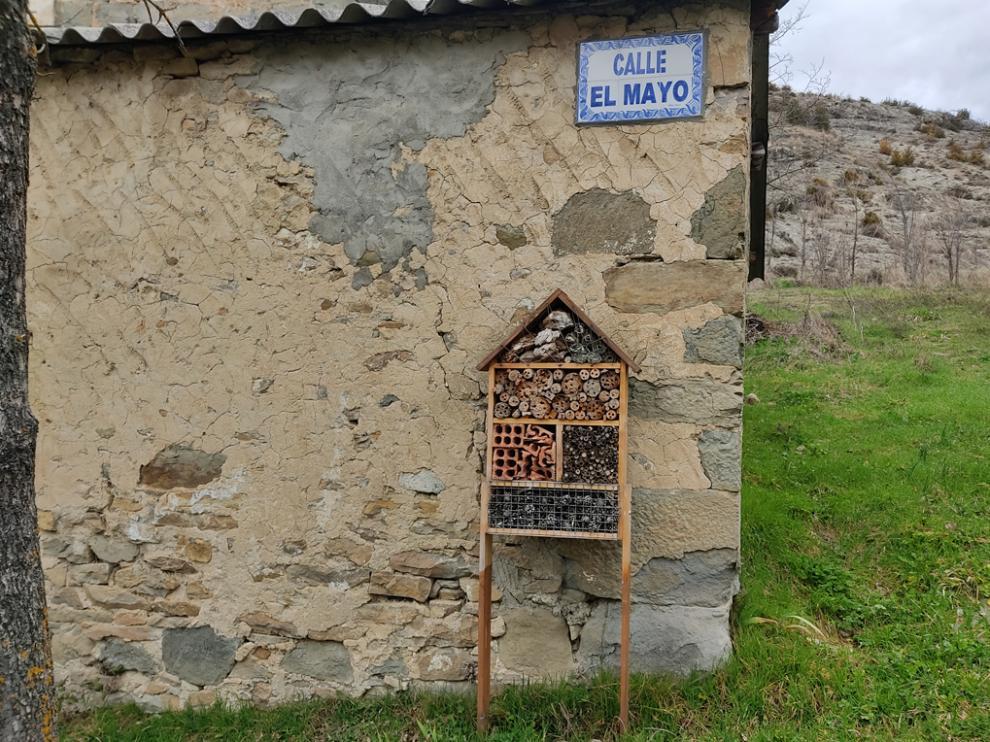 """""""Hotel"""" para insectos en Jarlata."""