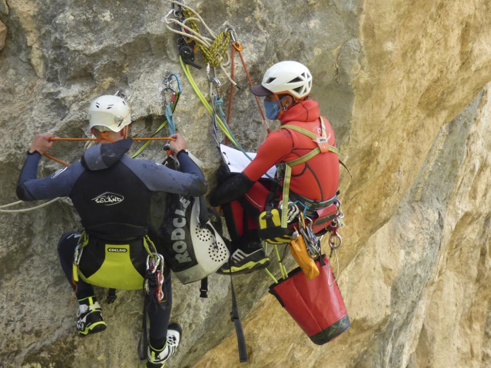 Pruebas de escalada realizadas a lo largo de esta semana en la zona de la Sierra de Guara.
