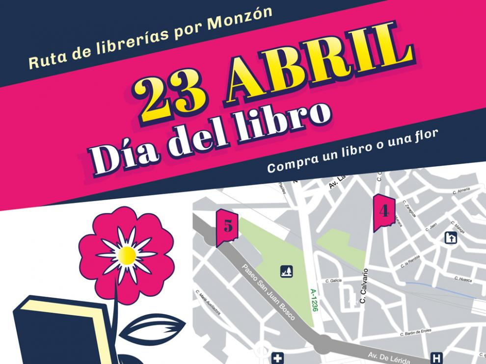 Cartel de la Feria del libro de Monzón
