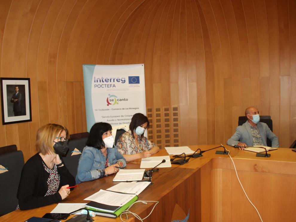 Imagen de la última reunión de coordinación técnica de este Interreg POCTEFA que ha tenido lugar de forma telemática