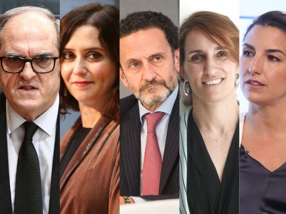 Candidatos a la Comunidad de Madrid