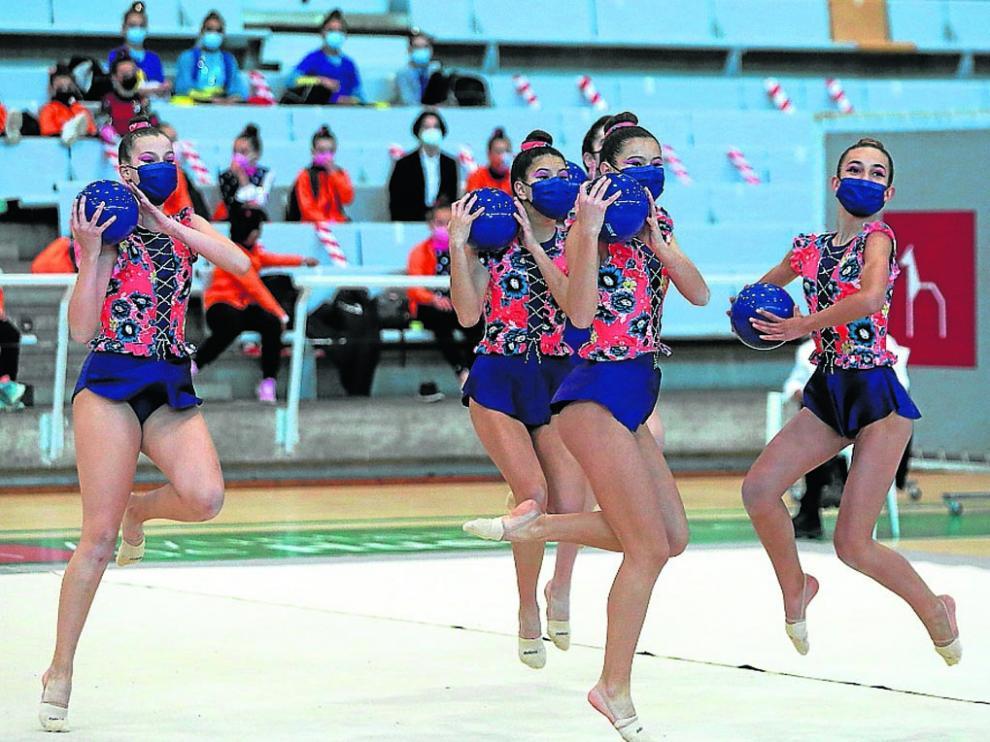El Palacio de los Deportes acogió por primera vez un evento de gimnasia con público.