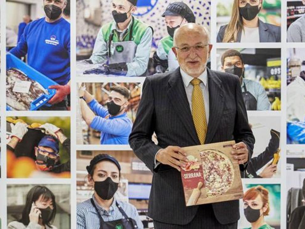 Juan Roig, presidente de Mercadona, informa sobre los resultados anuales de la cadena de supermercados.