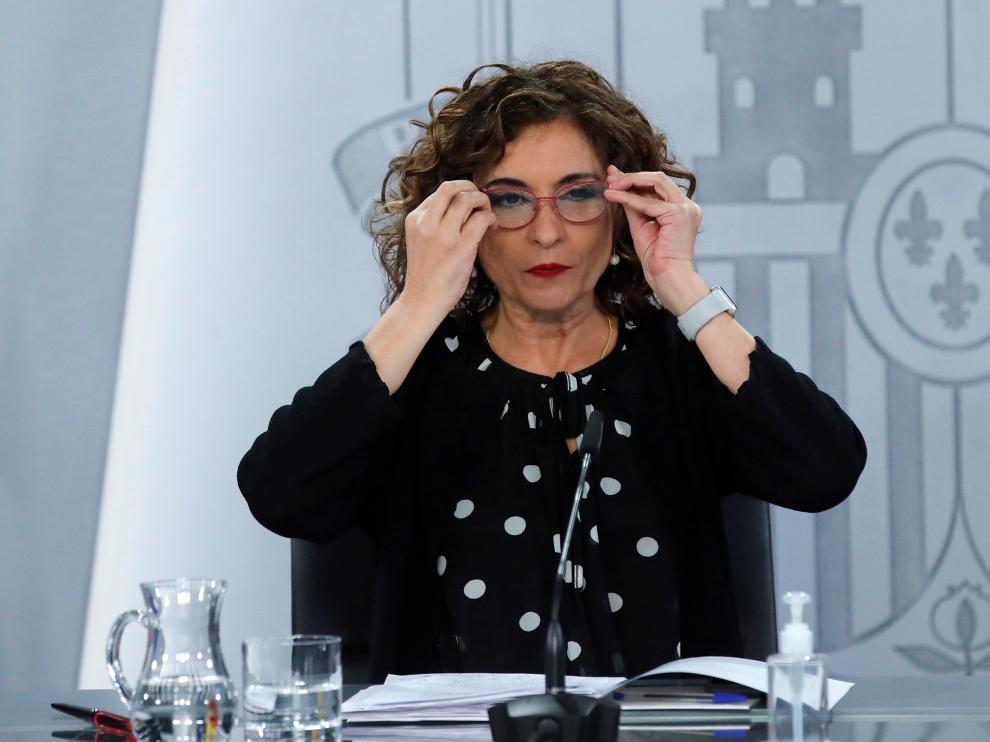 María Jesús Montero, en la rueda de prensa posterior al Consejo de Ministros este martes