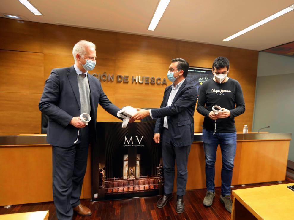 Pablo Hermoso de Mendoza, Roque Vicente y Fernando Sánchez, en la presentación.