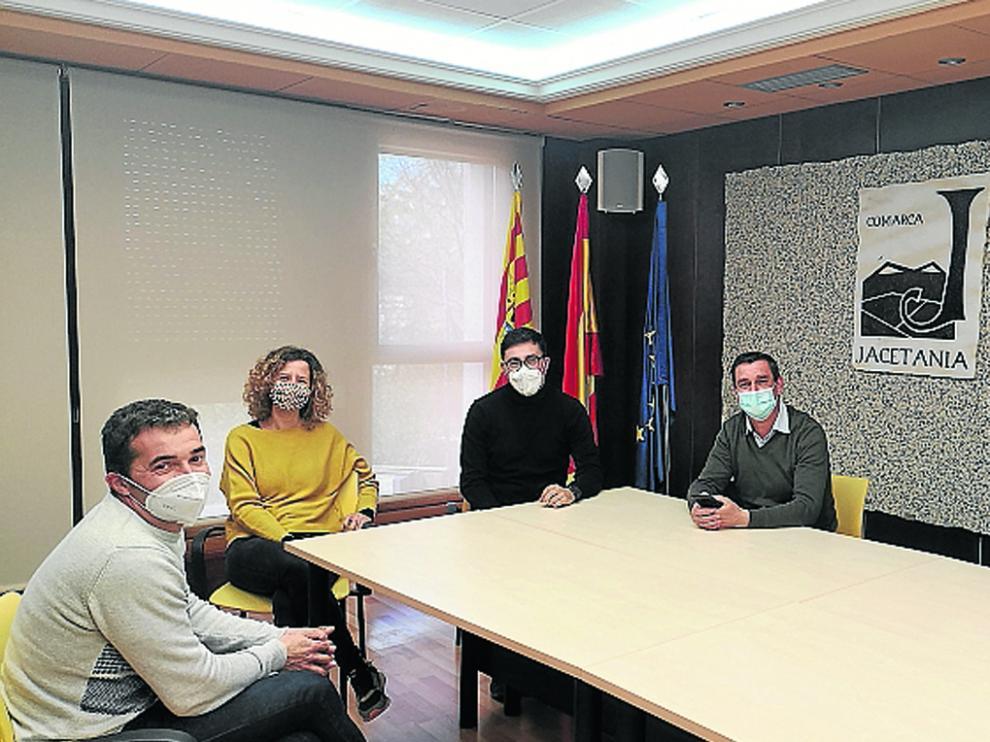 Encuentro que se ha realizado en la sede comarcal de la Jacetania, en Jaca.