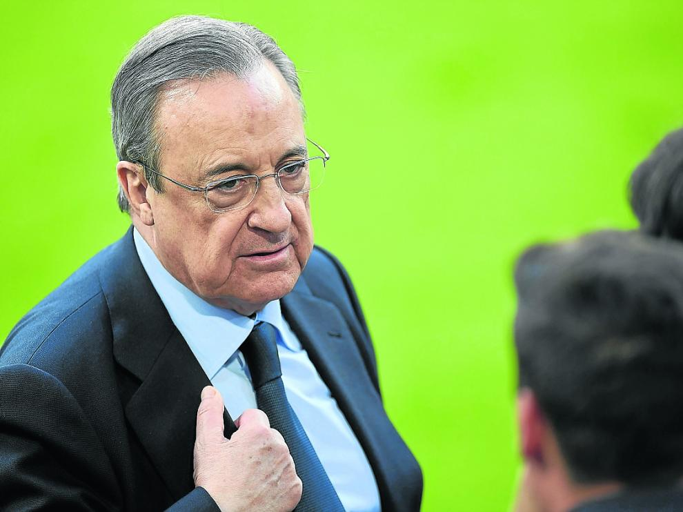 Florentino Pérez, presidente del Real Madrid y de la Superliga.