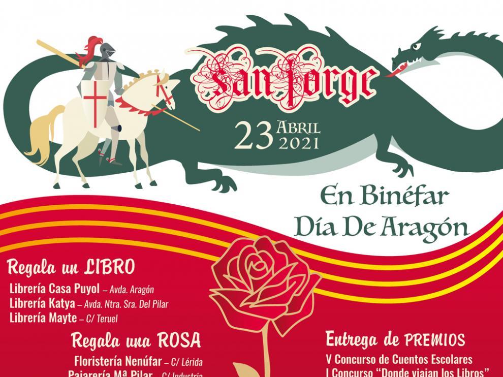 Binéfar celebra San Jorge en la calle