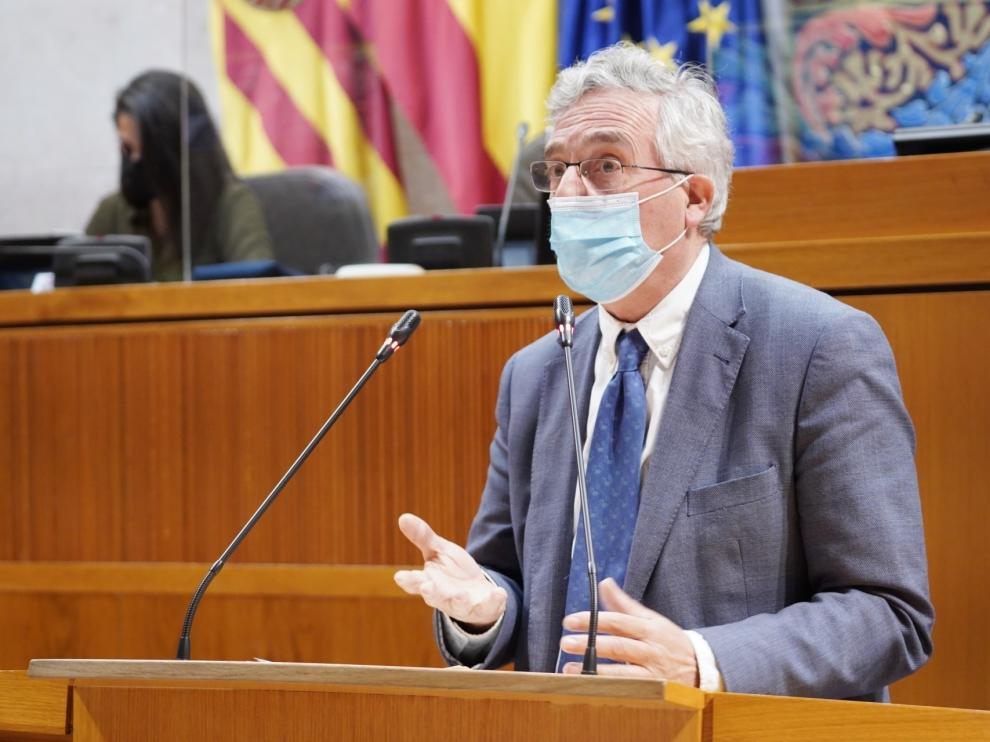 El consejero de Agricultura, Ganadería y Medio Ambiente, Joaquín Olona