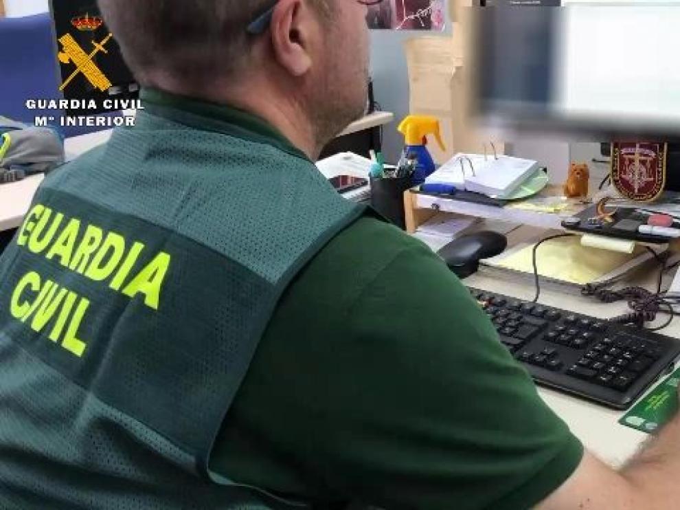 Imagen de la operación facilitada por la Guardia Civil de La Rioja