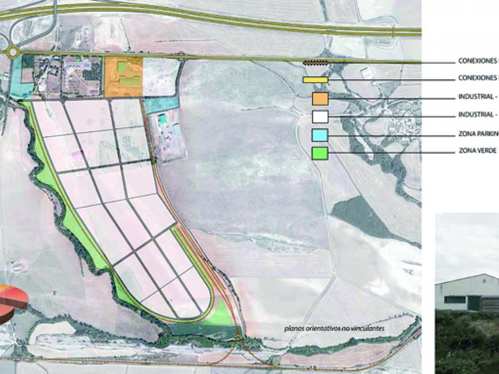 Plano orientativo sobre el polígono industrial-logístico de Martillué.