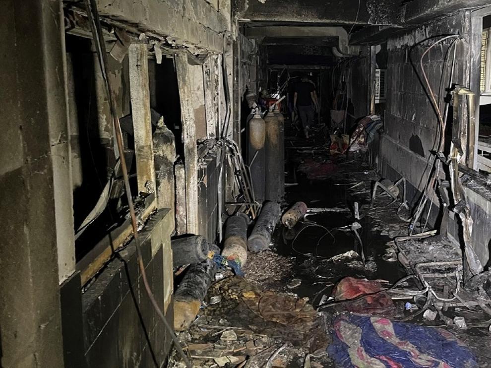 Así ha quedado el hospital después de la deflagración