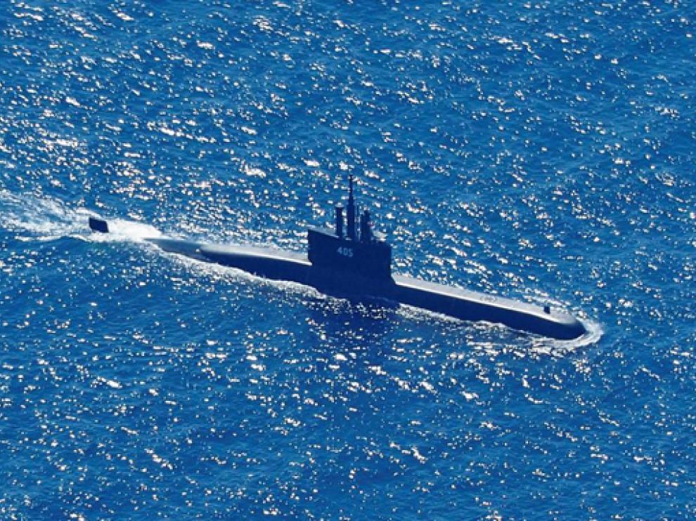 El submarino KRI Nanggala-402 durante una misión