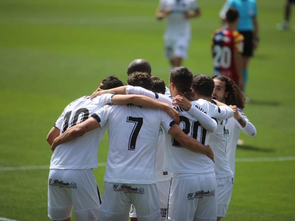 Gol del Getafe en El Alcoraz