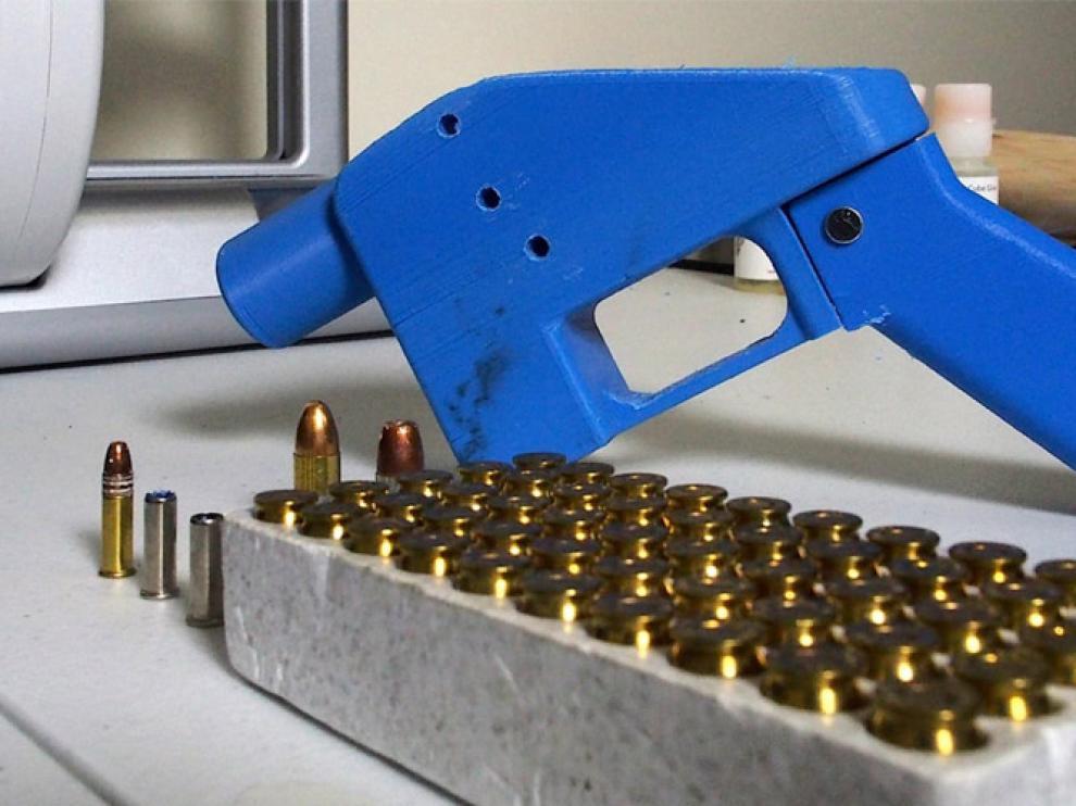 Imagen de un arma fabricada con una impresora 3D