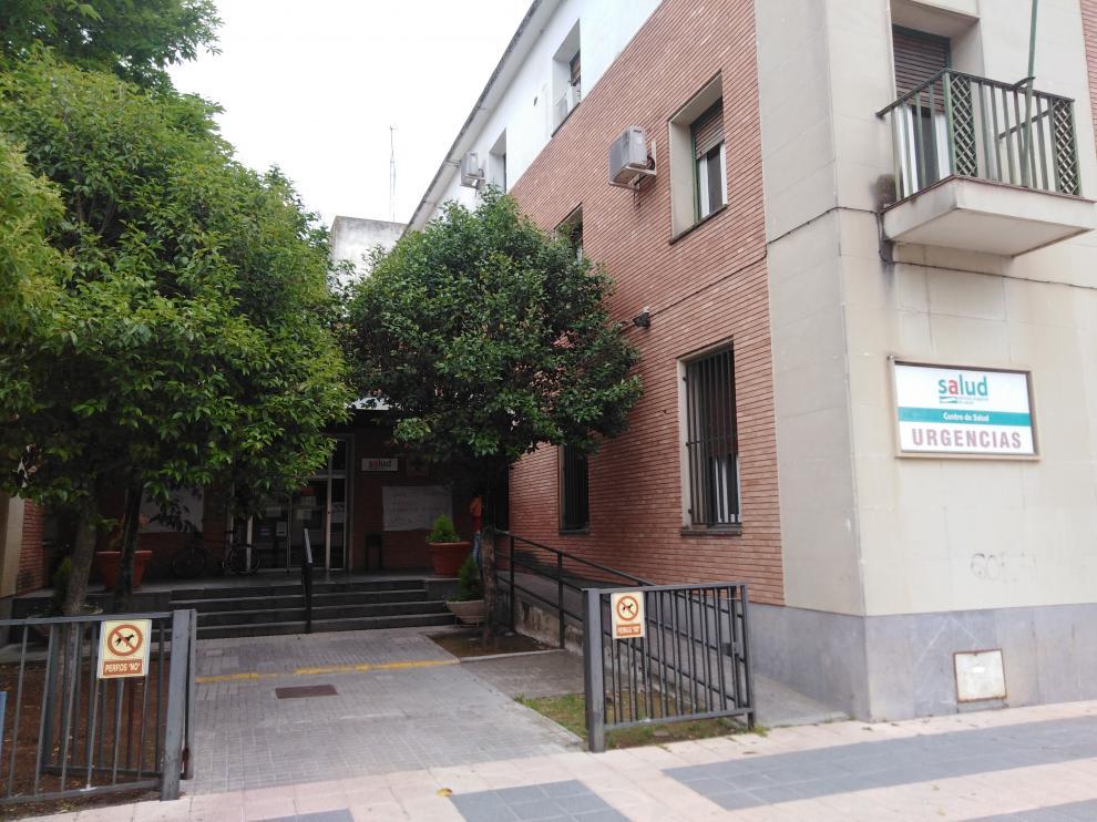 Acceso al Centro de Salud de Barbastro.