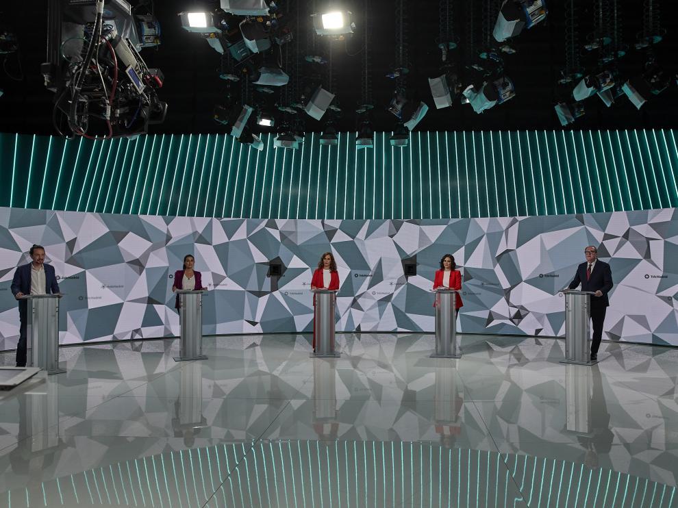 Candidatos a la Comunidad de Madrid en el Debate de Telemadrid