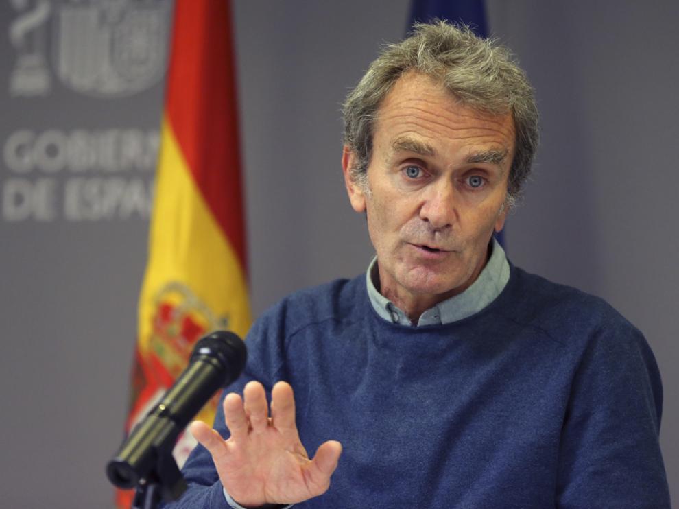 Fernando Simón durante una rueda de prensa convocada ante los medios.