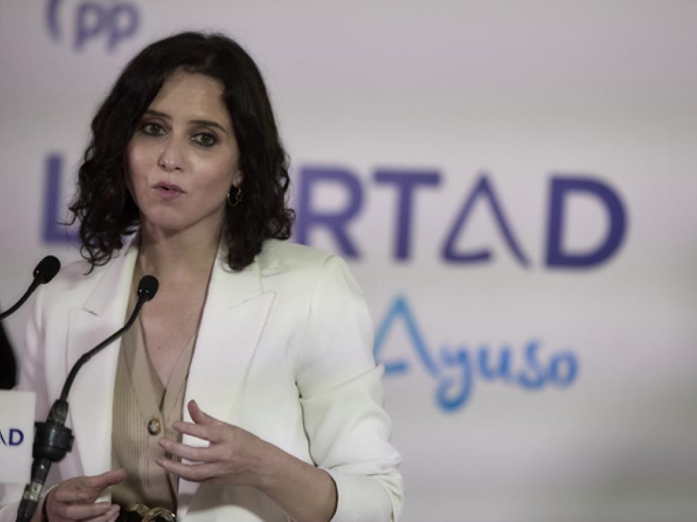 Ayuso ganaría las elecciones a la presidencia de la comunidad de Madrid, según la encuesta
