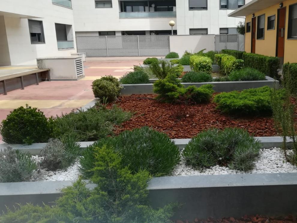 En la imagen, uno de los jardines que mantienen los profesionales de Serfey, empresa especialista en este tipo de trabajos.
