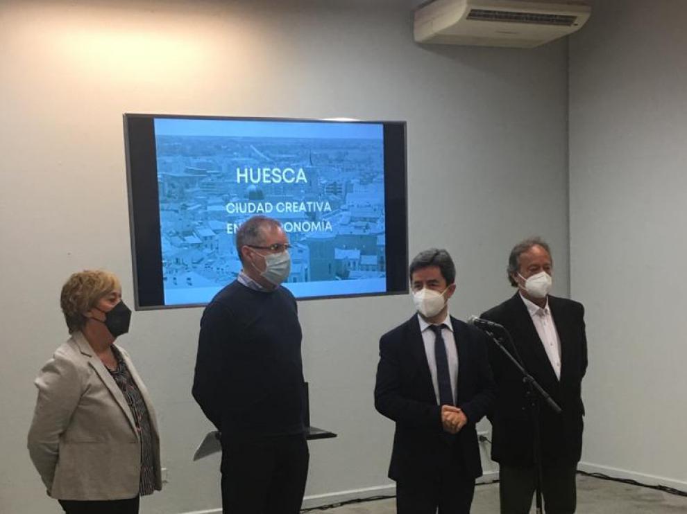 presentación de la candidatura Huesca Ciudad Creativa en Gatronomía