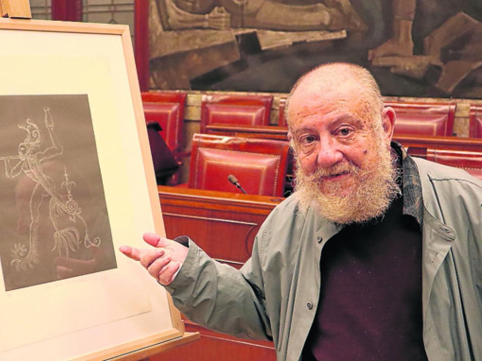 Guillermo Pérez Villalta muestra su Disparate de Fuendetodos.