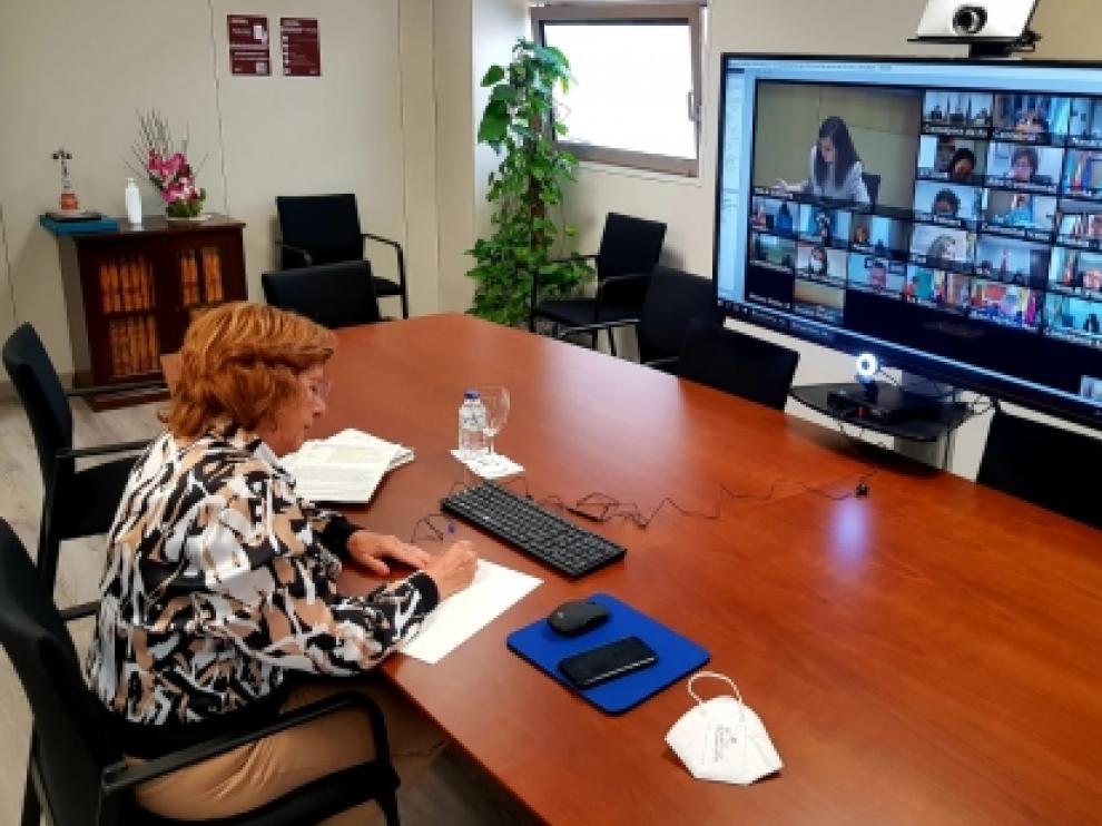 La consejera de Ciudadanía, María Victoria Broto, participa en el Consejo Territorial de Servicios Sociales