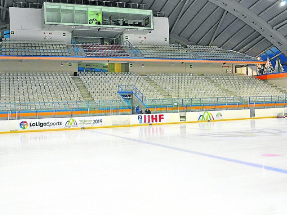 Las gradas el pabellón de hielo quedarán desiertas este fin de semana.