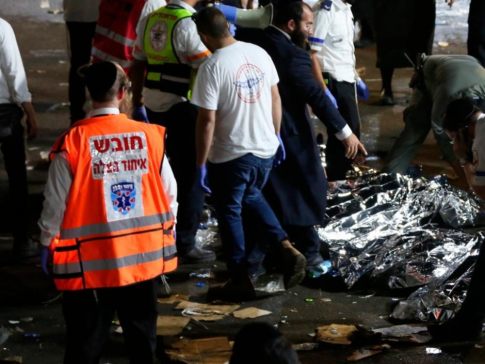 Son ya 45 los fallecidos en la estampida producida en una fiesta religiosa en Israel