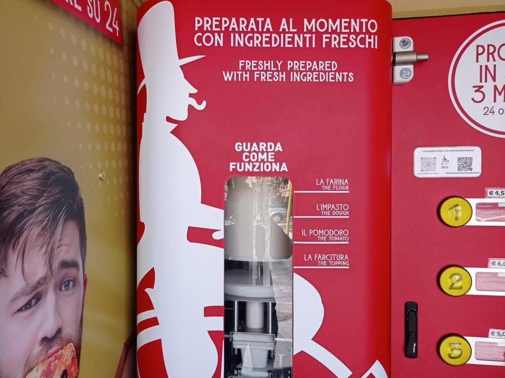 """""""Mr. Go"""", la primera pizzería automática de la capital italiana."""