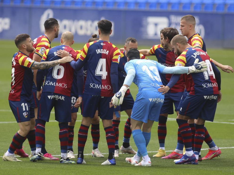 S.D. Huesca en el partido ante el Getafe.