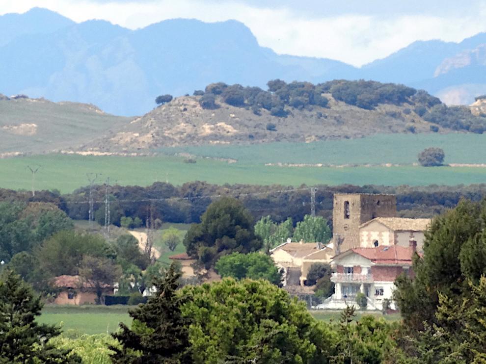 Zona rural en la Hoya de Huesca.