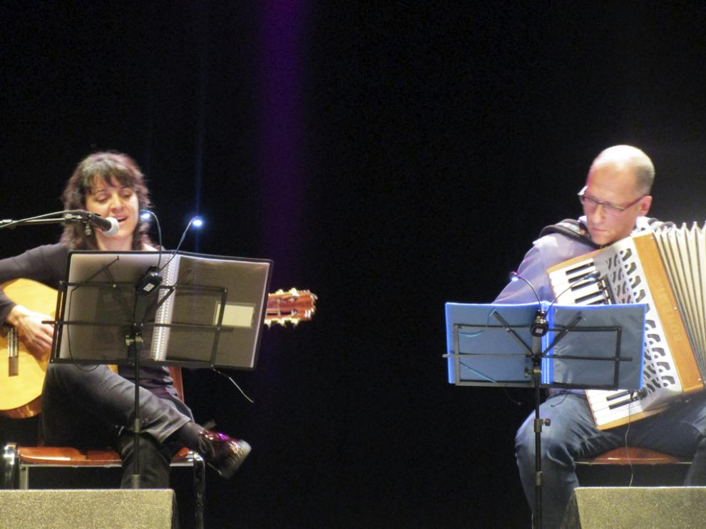 Elena Martínez con Chabier Crespo.