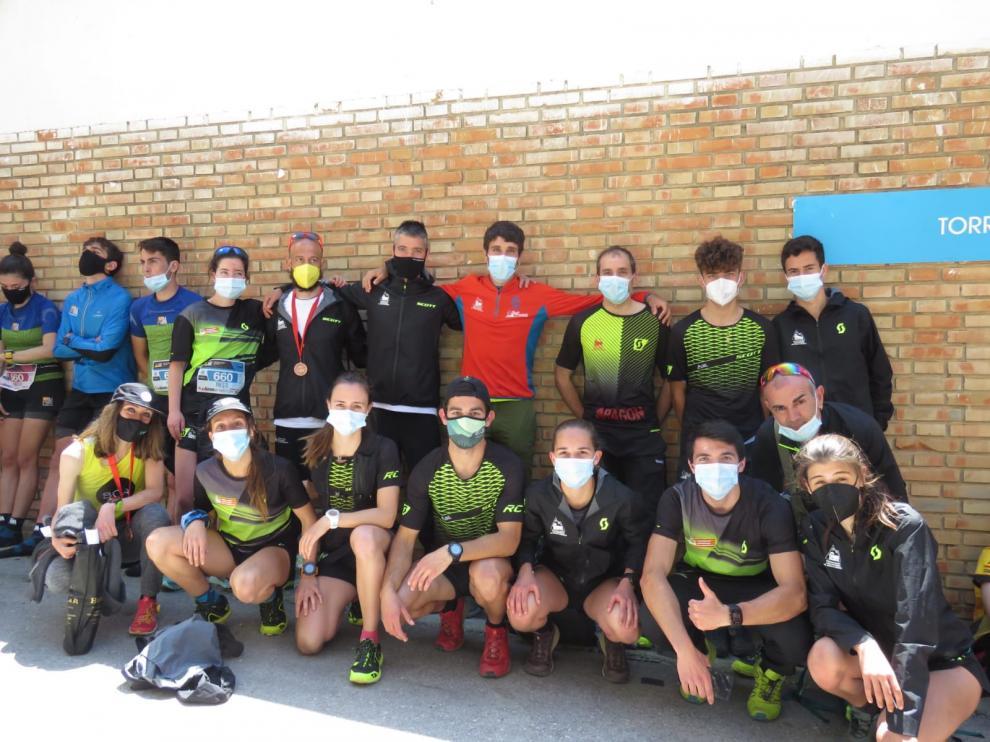 El equipo de la Selección de Aragón en Jaén