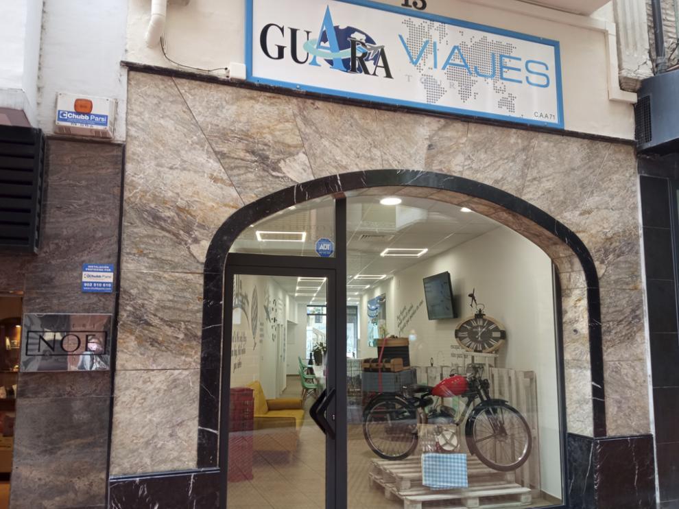 Fachada de Guara Viajes.
