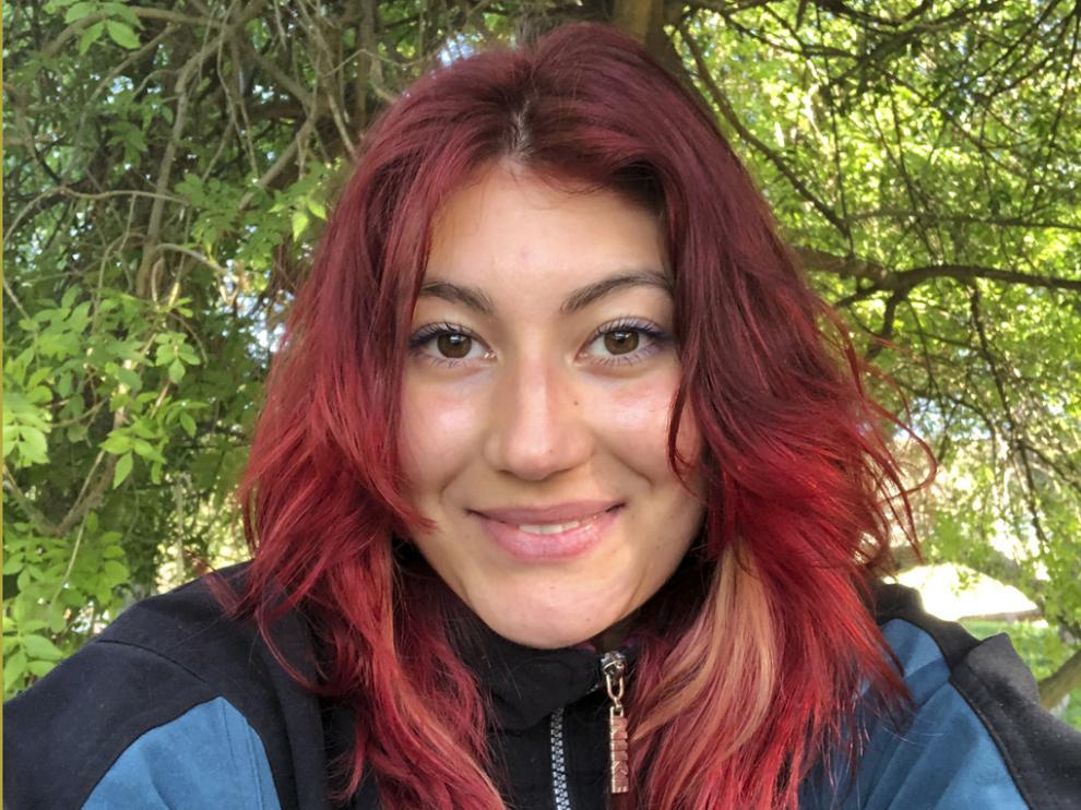Mirella Gómez Bara, voluntaria de Autismo Huesca desde 2019.