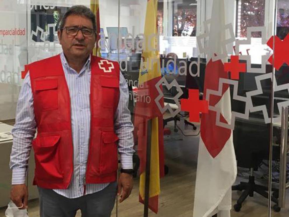 PedroRaúl Núñez, voluntario del servicio de telasistencia de Cruz Roja.